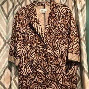 Studio Works New Womans Blazer Jacket Brown Tan Md